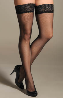 Philippe Matignon Thigh High Fishnet Hosiery M113878