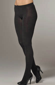 Opaque Tights with Glossy Spiral Pattern