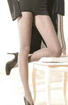 Philippe Matignon Cotton Tights with Openwork Spiral Pattern M114631