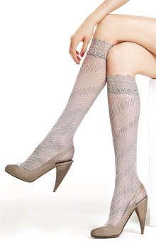 Openwork Cotton Knee High
