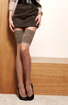 Sheer Tights With Stay Up Imitation Lace