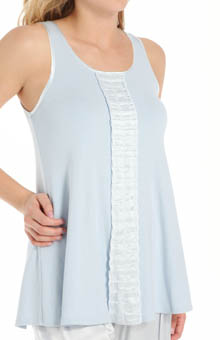 Alyssa Long Tank with Ruffle