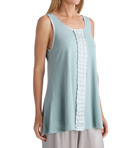PJ Harlow Alyssa Long Tank with Ruffle Alyssa