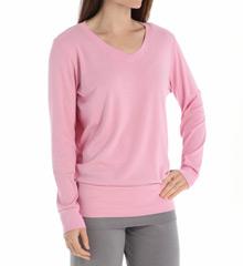 PJ Harlow Lulu Banded V-Neck Sweatshirt Lulu