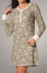 Daisy Peace Thermal Sleepshirt