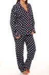 PJ Salvage Dottie Flannel PJ Set DOTPJ