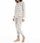 Mustache Thermal Pajama Set Image