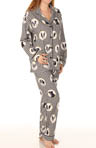 Houndstooth Dog Print Flannel PJ Set