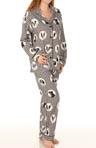 Houndstooth Dog Print Flannel PJ Set