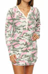 PJ Salvage Camo Cool Long Sleeve Night Shirt MCAMNS