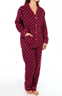 PJ Salvage Fall Into Flannel Dots Pajama Set