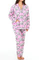 PJ Salvage Fall Into Flannel FLoral Skulls PJ Set MFLOPJ