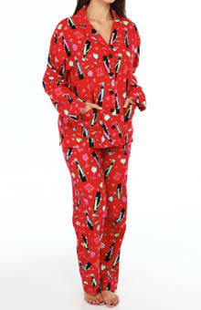 PJ Salvage Holiday PJ's Penguin Drinks PJ Set MHMERPJ