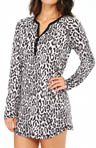 PJ Salvage Winter Cool Leopard Nightshirt MHWINNS