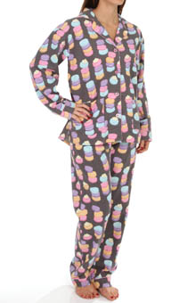 PJ Salvage Fall Into Flannel Macaroon Madness Pajama Set