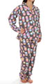 Fall Into Flannel Macaroon Madness Pajama Set Image