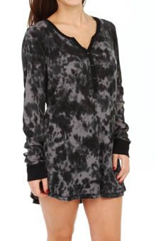 PJ Salvage Marble Dyes Thermal Night Shirt