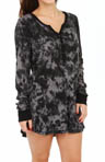 PJ Salvage Marble Dyes Thermal Night Shirt MMARNS