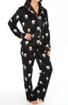 PJ Salvage Plush Polar Skull Print Fleece Pajama Set MPLUPJ2