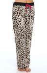 Pop of Pink Leopard Print Pajama Pant Image