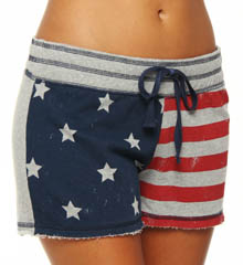 PJ Salvage Stars and Stripes Flag Print Short