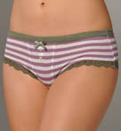 Olive Outing Stripe Hot Short Panty