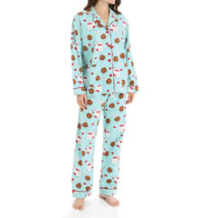 PJ Salvage Fall Into Flannel Cookies & Milk PJ Set RCOOPJ
