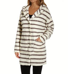PJ Salvage Home Cozy Stripe Hooded Cardigan RHOMCA1