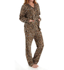 PJ Salvage Fall Into Flannel Leopard PJ Set RLEOPJ