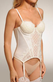 Pleasure State White Label Hidden Veil Corset 52-2195