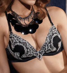 Pleasure State White Label Chateau Plunge Push Up Bra