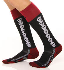 Snowboard Light  Skulls Over The Calf Socks
