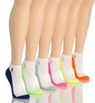 Contrast Sole Sock - 6 Pack Image