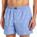 Printed Polo Player 100% Cotton Woven Boxer
