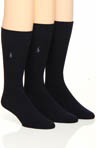Polo Ralph Lauren 3 Pack Microfiber Rib Socks 8080PK