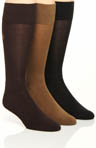 Polo Ralph Lauren Flat Knit Viscose Cushioned Crew Socks - 3 Pack 8083PK