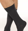 Solid Rib Pima Cotton/Wool Dress Sock Image