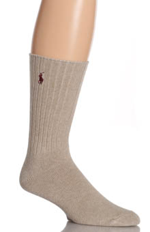 Cotton Crew Sock with Polo Embroidery