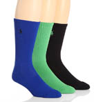 Polo Ralph Lauren 3 Pack Tech Athletic Crew Socks 821063PK