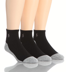 Split Color Cushioned Quarter Top Sock 3 Pack