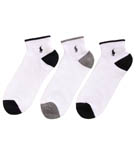 Polo Ralph Lauren Cushioned Cotton 1/4 Top Sock 3 Pack 824004