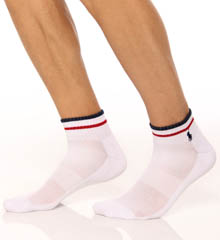 Stripe Cuff Technical Quarter Top Sock 3 Pack