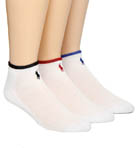 Polo Ralph Lauren 3 Pack Cotton Mesh Cushioned Ped Socks 827014PK