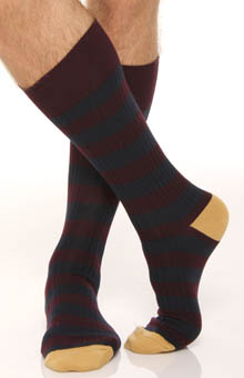 Rib Stripe 2 Pack Sock