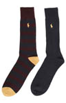 Rib Stripe Socks - 2 Pack