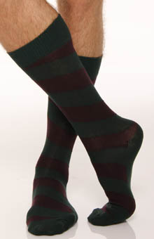 Wide Diagonal Striped Sock 2 Pack