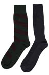 Polo Ralph Lauren Wide Diagonal Striped Sock 2 Pack 8957PK