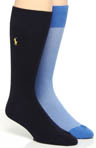 Polo Ralph Lauren Oxford Dress Socks - 2 Pack 8976PK