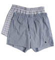 Slim Fit Stretch Woven Boxers - 2 Pack Image