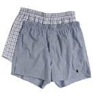 Slim Fit Stretch Woven Boxers - 2 Pack